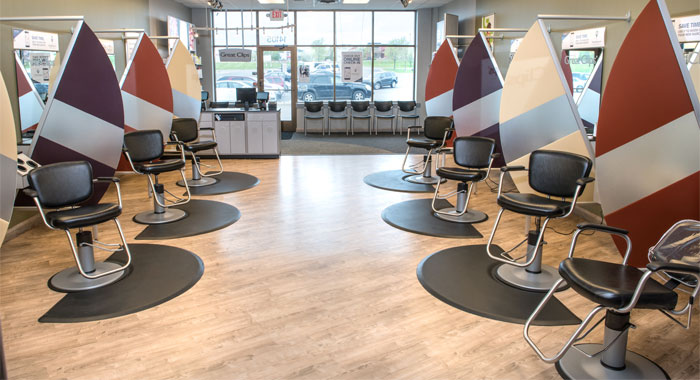 inside Great Clips salon
