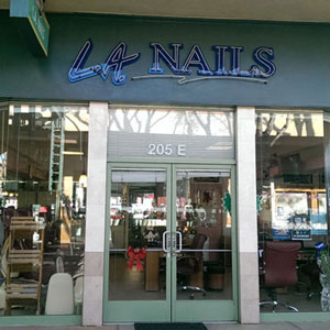 LA Nails price list