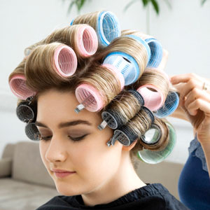 different hair rollers