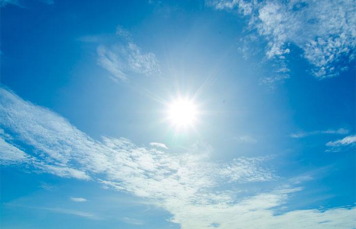 mid-day sun